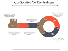 Our Solution To The Problem Template 1 Ppt PowerPoint Presentation Images