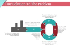 Our Solution To The Problem Template 1 Ppt PowerPoint Presentation Slides Portrait