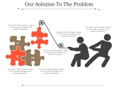 Our Solution To The Problem Template 2 Ppt PowerPoint Presentation Example 2015