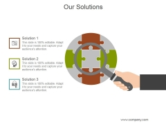 Our Solutions Ppt PowerPoint Presentation Shapes