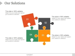 Our Solutions Ppt PowerPoint Presentation Topics