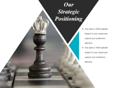 Our Strategic Positioning Template 1 Ppt PowerPoint Presentation Infographics Design Inspiration