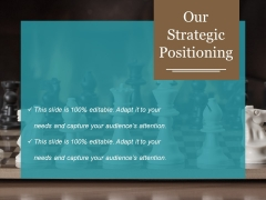 Our Strategic Positioning Template 1 Ppt PowerPoint Presentation Summary Demonstration