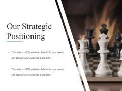 Our Strategic Positioning Template Ppt PowerPoint Presentation Model Examples
