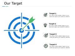 Our Target Arrow Ppt PowerPoint Presentation Inspiration Background