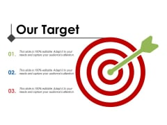 Our Target Arrow Ppt PowerPoint Presentation Outline Icons