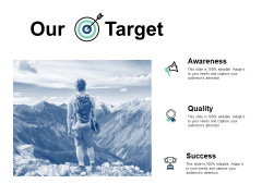 Our Target Awareness Ppt PowerPoint Presentation Styles Themes
