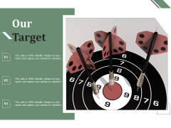 Our Target Goals Ppt PowerPoint Presentation Model Graphics Pictures
