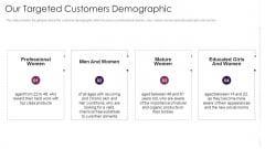 Our Targeted Customers Demographic Slides PDF