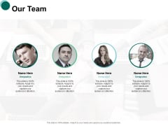Our Team Communication Introduction Ppt PowerPoint Presentation Pictures Visuals