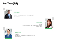 Our Team Communication Ppt PowerPoint Presentation Icon Deck