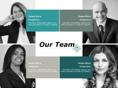 Our Team Communication Ppt PowerPoint Presentation Model Deck