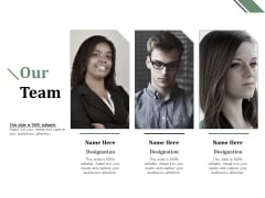 Our Team Communication Ppt PowerPoint Presentation Model Influencers