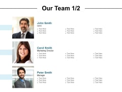 Our Team Communication Ppt PowerPoint Presentation Model
