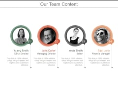 Our Team Content Ppt PowerPoint Presentation Sample