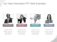 Our Team Description Ppt PowerPoint Presentation Visual Aids