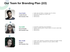 Our Team For Branding Plan Creative Ppt Infographic Template Maker PDF