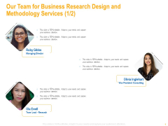 Our Team For Business Research Design And Methodology Services Themes PDF