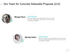 Our Team For Concrete Sidewalks Proposal Business Ppt PowerPoint Presentation Outline Templates
