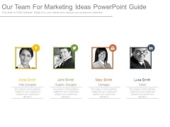 Our Team For Marketing Ideas Powerpoint Guide