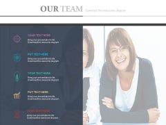 Our Team For Marketing Plan Powerpoint Slides