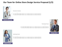 Our Team For Online Store Design Service Proposal Business Ppt PowerPoint Presentation Inspiration Guide