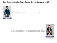 Our Team For Online Store Design Service Proposal Managment Ppt PowerPoint Presentation Pictures Brochure