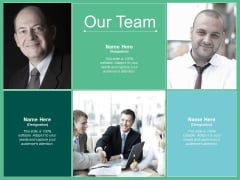 Our Team Introduction Communication Ppt PowerPoint Presentation Ideas Topics