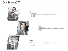 Our Team Introduction Ppt PowerPoint Presentation File Infographic Template