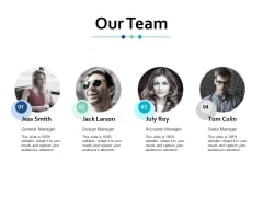 Our Team Introduction Ppt Powerpoint Presentation Infographic Template Information