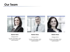 Our Team Introduction Ppt PowerPoint Presentation Layouts Format Ideas