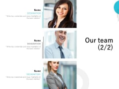 Our Team Introduction Ppt PowerPoint Presentation Layouts Graphics Template
