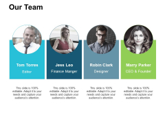 Our Team Introduction Ppt PowerPoint Presentation Layouts Maker