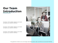 Our Team Introduction Ppt PowerPoint Presentation Model Ideas