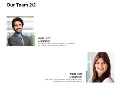 Our Team Introduction Ppt PowerPoint Presentation Slides Deck