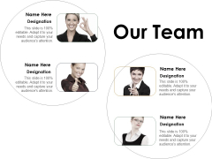 Our Team Introduction Ppt Powerpoint Presentation Styles Clipart