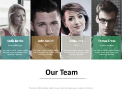 Our Team Introduction Ppt Powerpoint Presentation Summary Slides