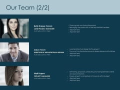 Our Team Introduction Ppt PowerPoint Presentation Themes