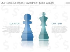Our Team Location Powerpoint Slide Clipart