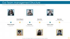 Our Team Management Structure Building Brand Brochure PDF