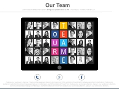 Our Team Network On Social Media Powerpoint Slides
