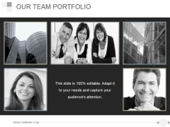 Our Team Portfolio Ppt PowerPoint Presentation Guide
