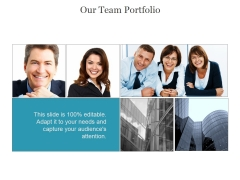 Our Team Portfolio Ppt PowerPoint Presentation Layout