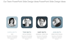 Our Team Powerpoint Slide Design Ideas Powerpoint Slide Design Ideas