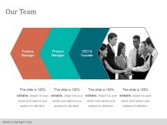 Our Team Ppt PowerPoint Presentation Design Ideas