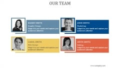 Our Team Ppt PowerPoint Presentation Design Templates