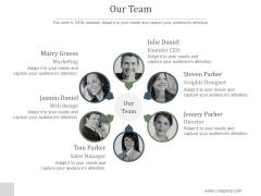 Our Team Ppt PowerPoint Presentation Designs