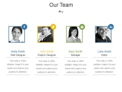 Our Team Ppt PowerPoint Presentation Diagrams