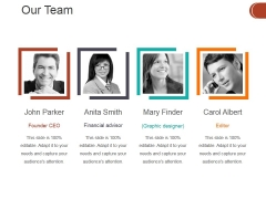 Our Team Ppt PowerPoint Presentation Gallery Graphics Example
