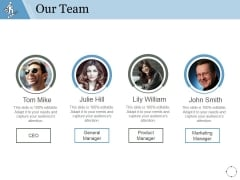Our Team Ppt PowerPoint Presentation Gallery Introduction